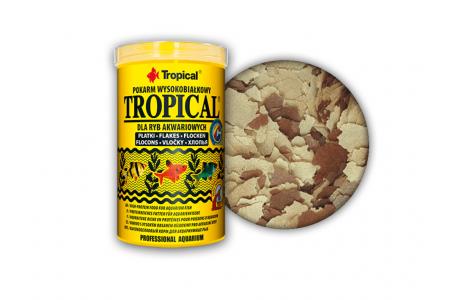 Високопротеинова храна на люспи Tropical Tropical