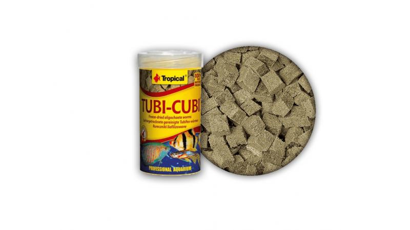 Храна за месоядни и всеядни рибки под формата на кубчета Tropical Tubi Cubi 100 ml / 10 g
