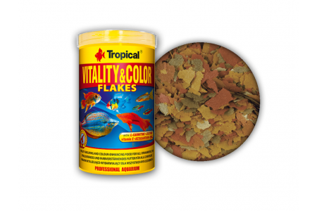 Високопротеинова храна на люспи Tropical Vitality&Color
