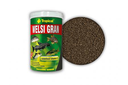 Храна за дънни риби под формата на потъващи гранули Tropical Welsi Gran