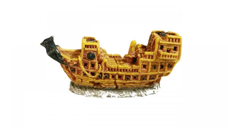 Изкуствена декорация - Мини кораб